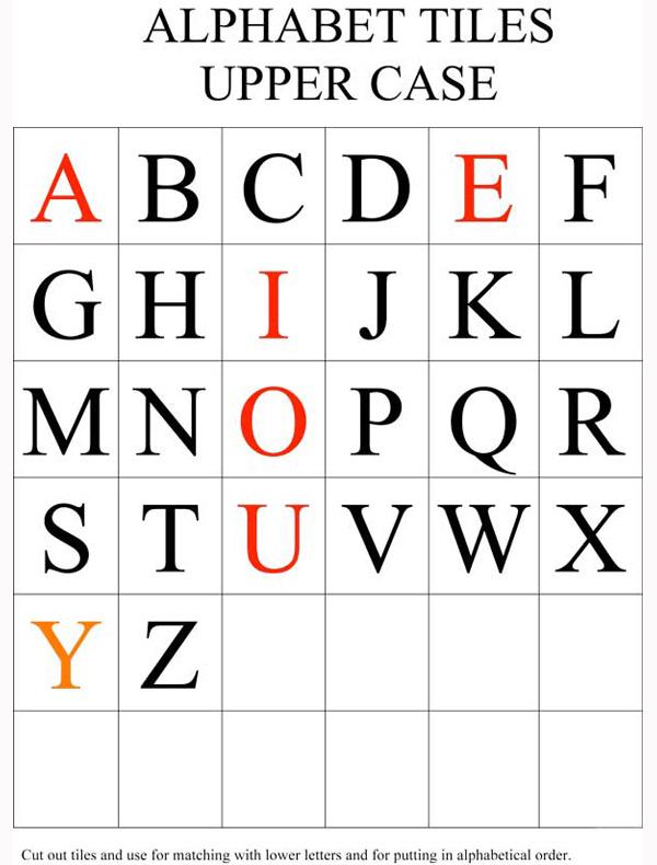 Alphabet on Alphabet Flash Cards